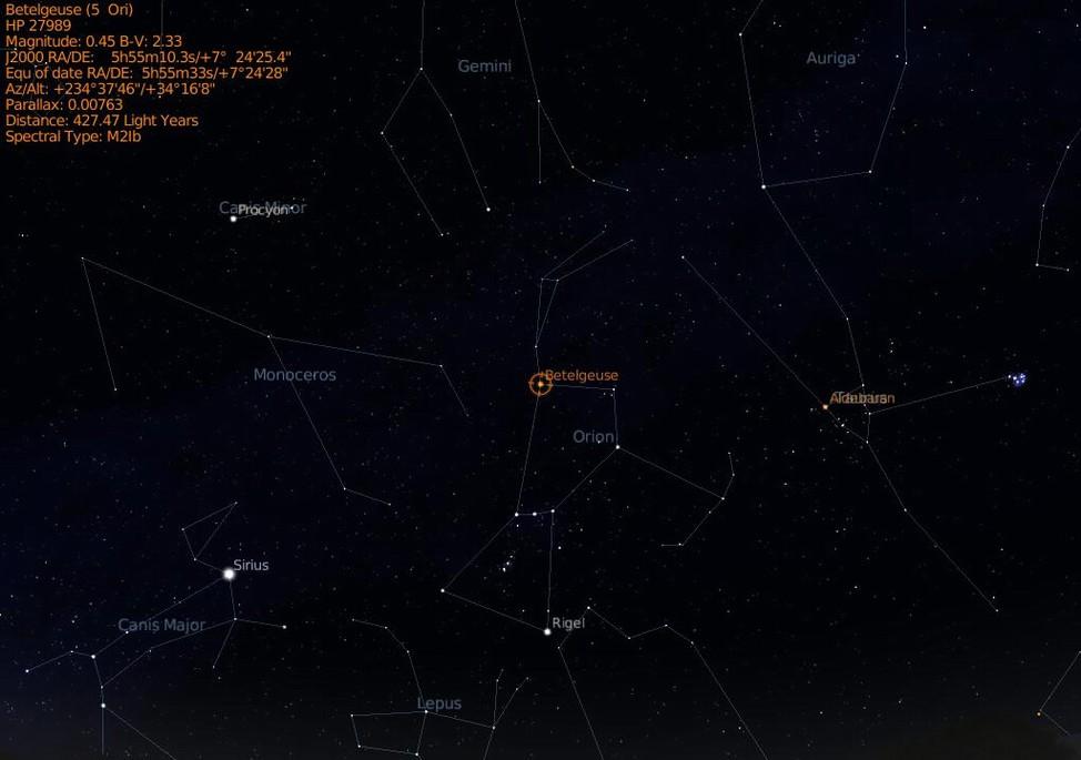 Betelgeuse Information